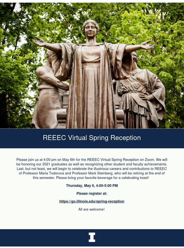 REEEC Virtual Spring Reception