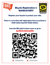 Bicycle registration flier - how to register and registration fee