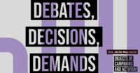 debates decisions demands